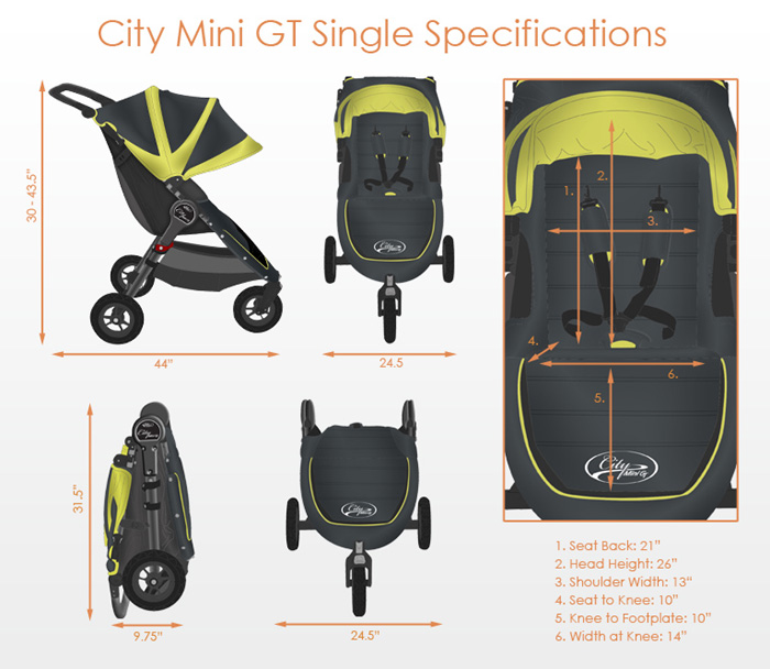 Baby Jogger City Mini Gt Singles Free Shipping