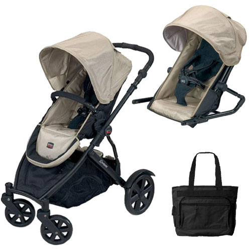 B-Ready Stroller & Twilight 2nd Seat - Twilight