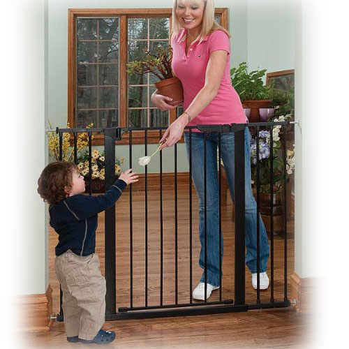 Tall & Wide Auto Close Gateway in Black