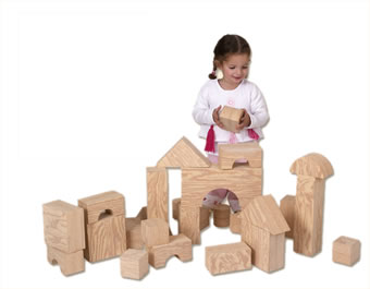 726032 Edushape Big Wood-Like Building Blocks