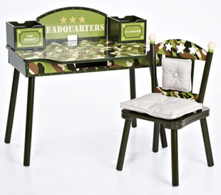 Levels of Discovery Heroes Rock Computer Desk & Chair Set - Model LOD20046