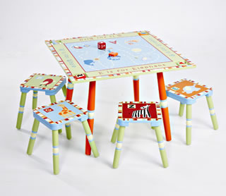 Levels of Discovery Alphabet Soup Table & 4 Stool Set - Model LOD70002
