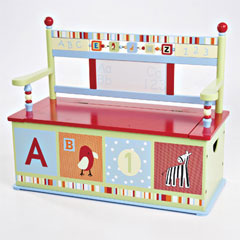 Levels of Discovery Princess Toy Box Bench - Model LOD70001