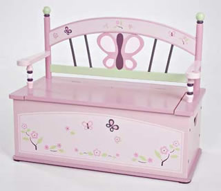Levels of Discovery Sugar Plum Toy Box Bench - Model LOD70004