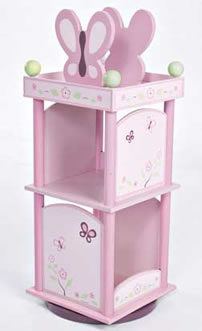 Levels of Discovery Sugar Plum Revolving Bookcase - Model LOD70005